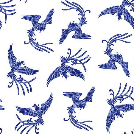 ave fenix: Patrón phoenix orientales