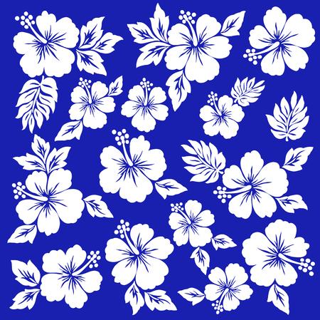 Hibiscus bloem illustratie