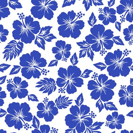 히비스커스 꽃 패턴