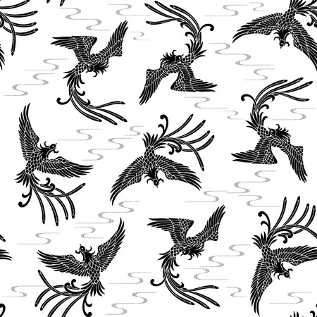 tough luck: Oriental phoenix pattern