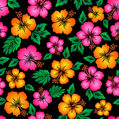 Hibiscus flower pattern Reklamní fotografie - 42516082