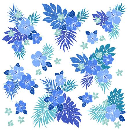 ハイビスカスの花のイラスト  イラスト・ベクター素材