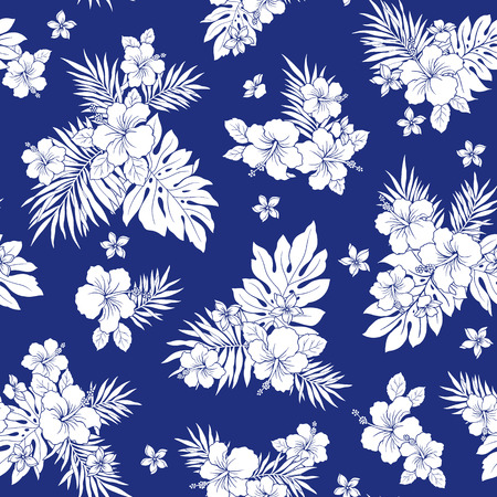 Hibiscus flower pattern