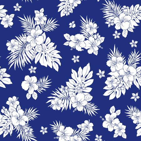 Hibiscus flower pattern 版權商用圖片 - 42516170