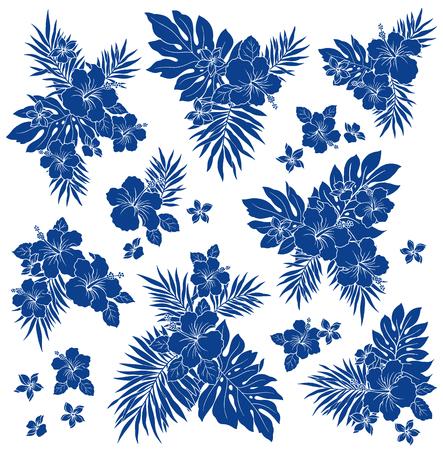 tahiti: Hibiscus flower illustration