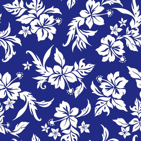 Hibiscus bloempatroon