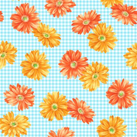 corsage: Marguerite flower pattern Stock Photo