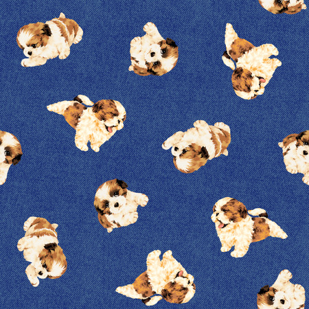 shih tzu: Dog pattern Stock Photo