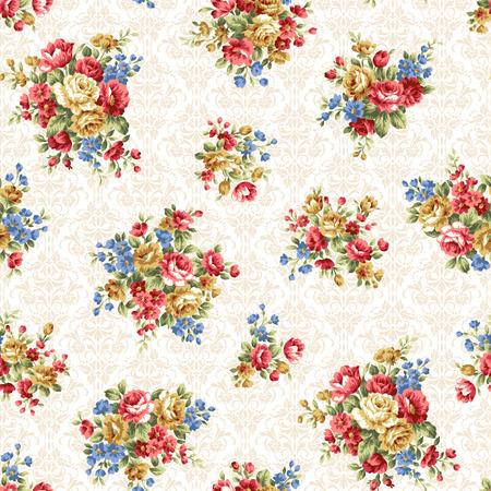 Rose flower pattern, Stock Illustratie