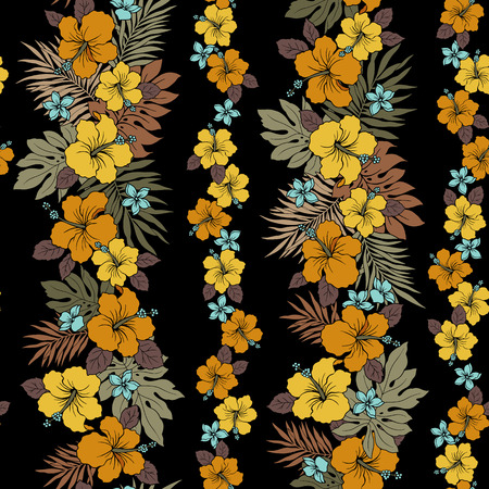 exotic flowers: Hibiscus flower pattern