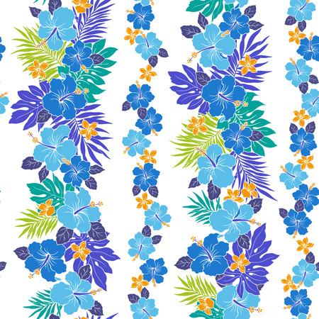 vigorously: Hibiscus flower pattern