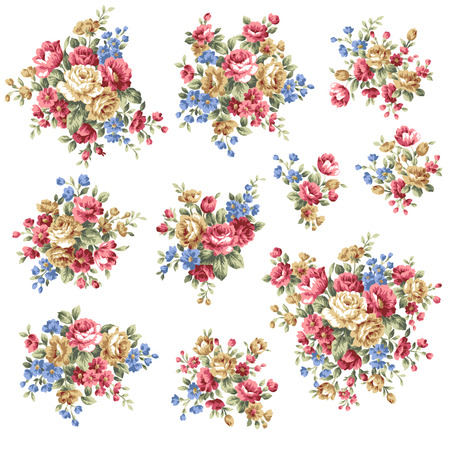 floral vector: Rose flower bouquet,
