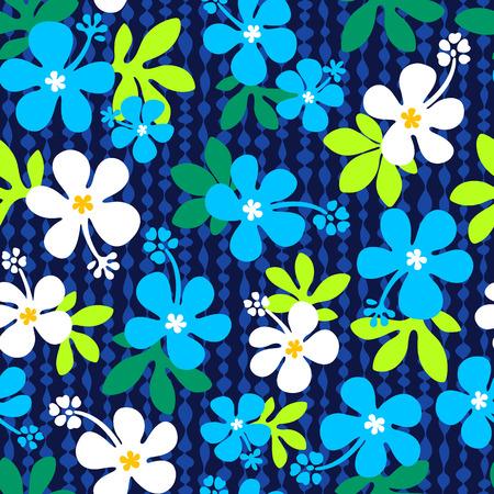 flores exoticas: Patrón de flor del hibisco