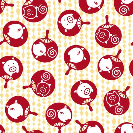 eventail japonais: Fan mod�le japonais Illustration