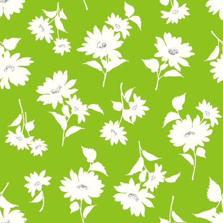 corsage: Flower illustration pattern