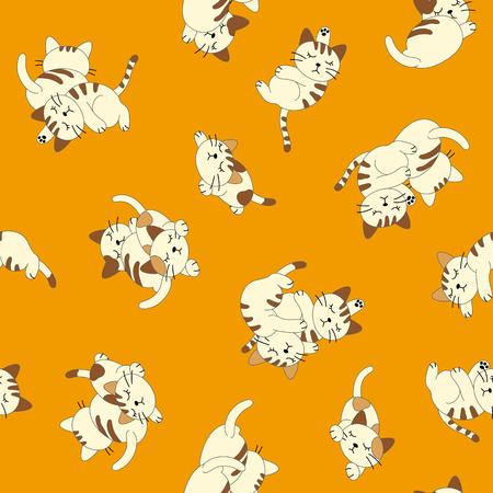 whim: Sleepy cat pattern Illustration