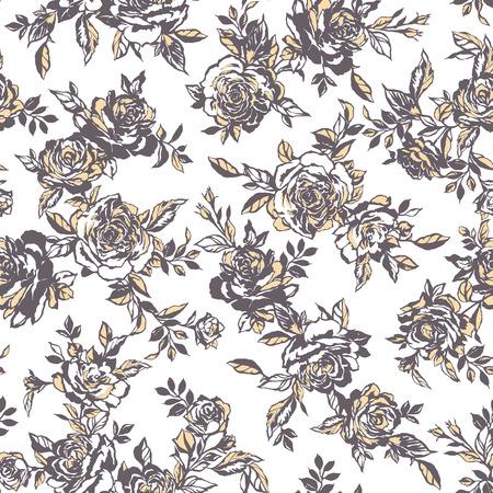 Rose flower pattern, Ilustrace