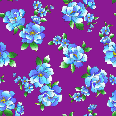 corsage: Flower illustration pattern