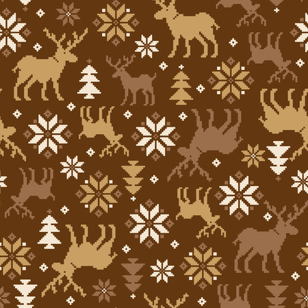paper arts and crafts: Nordic tradition pattern Illustration