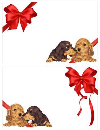 amabilidad: Ilustración del perro y la cinta Foto de archivo