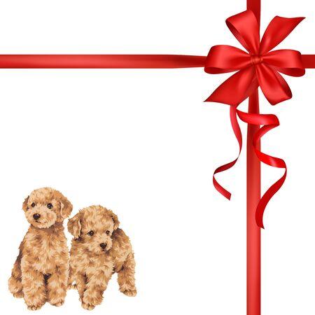 Ilustración del perro y la cinta