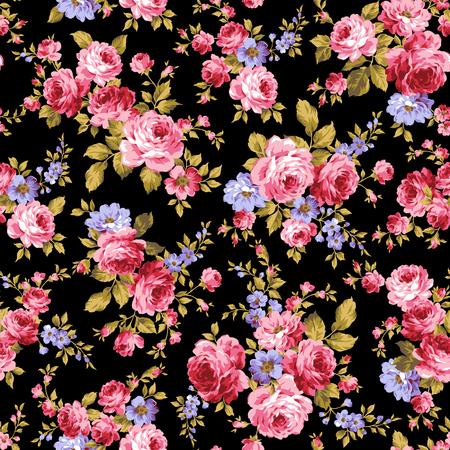 バラの花のパターン  イラスト・ベクター素材