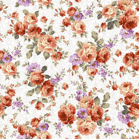 Rose flower pattern, Ilustração