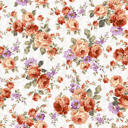 rose: Rose flower pattern, Illustration