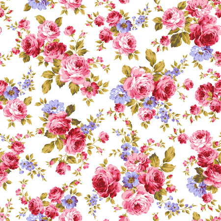 Rose flower pattern, Vettoriali