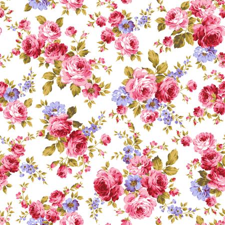 jardines con flores: Rose patrón de flores,