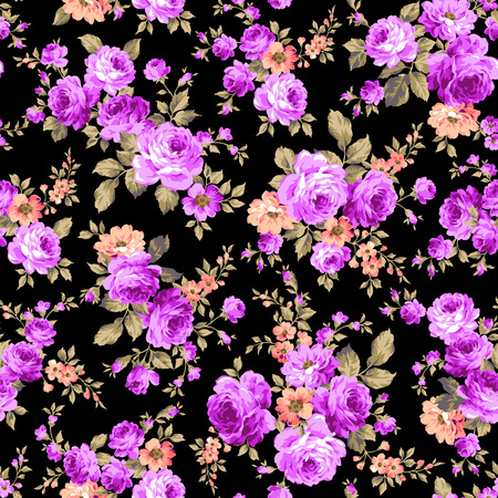 Rose flower pattern, Illustration