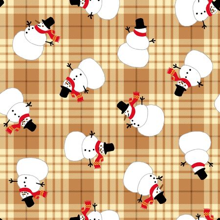 fashion story: Snowman pattern Illustration