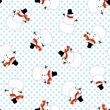 children's story: Snowman pattern Illustration