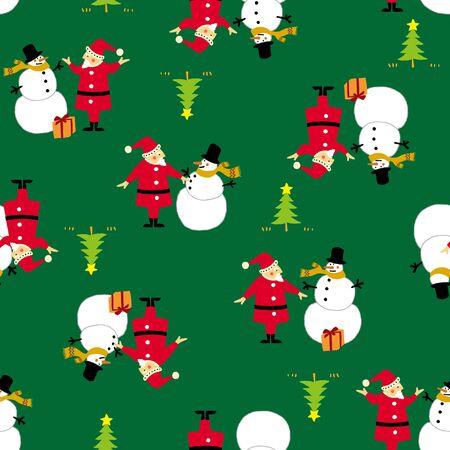 children's story: Santa Claus and snowman