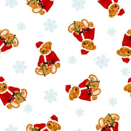 Bear illustration pattern Stock Photo