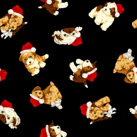 Dog pattern Stock Photo