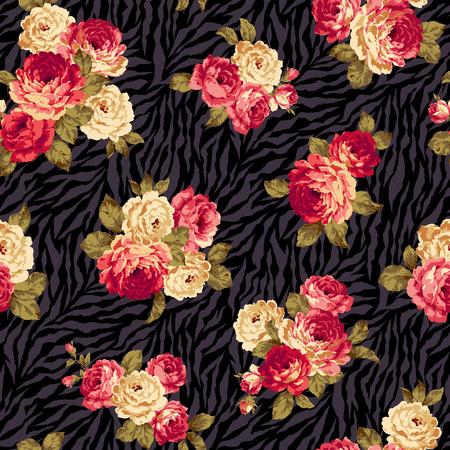 Rose bloem patroon,