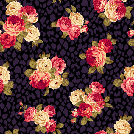 rose pattern: Rose flower pattern, Illustration