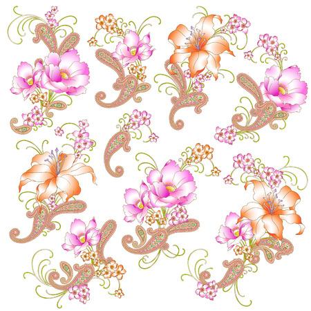 arte moderno: Flor ilustraci�n objeto Vectores