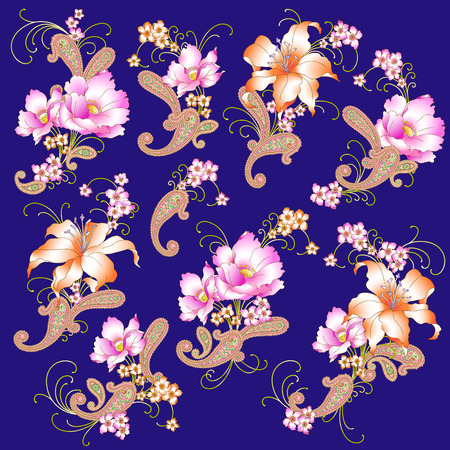 simplification: Flower illustration object Illustration