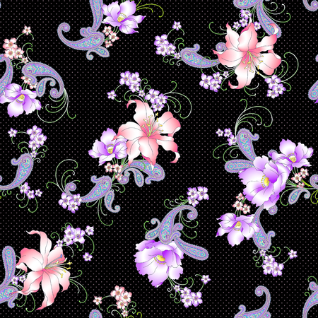 disegni cachemire: Lily paisley pattern