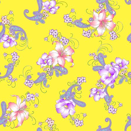 resplendent: Lily paisley pattern