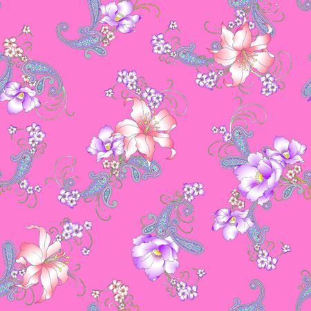 romantic picture: Lily paisley pattern