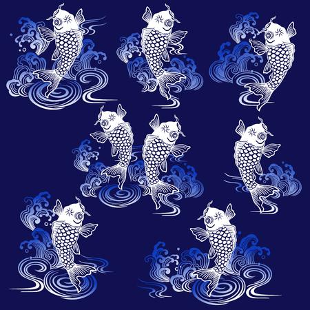 Japanese style carp
