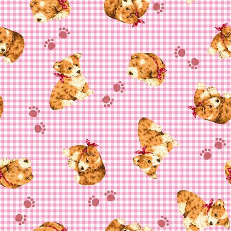 puppy: Dog pattern Stock Photo