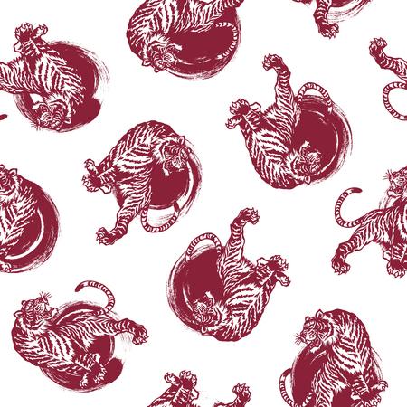 Japanese tiger pattern