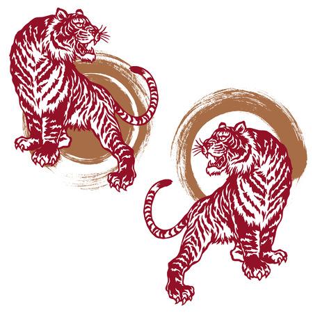 Japanese tiger Stock Illustratie