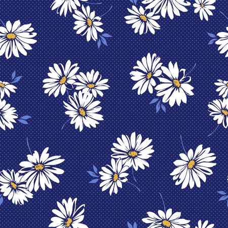 マーガレットの花のパターン