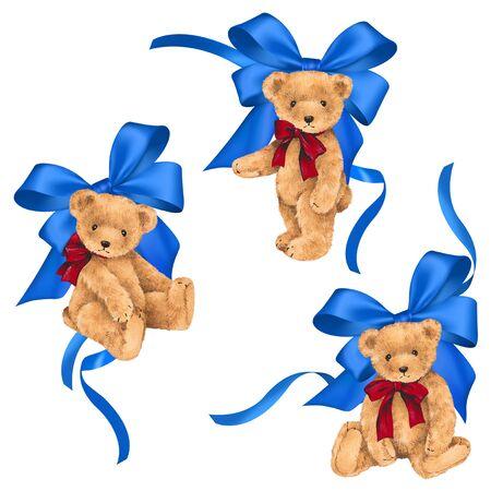 amiability: Illustration of bear and ribbon