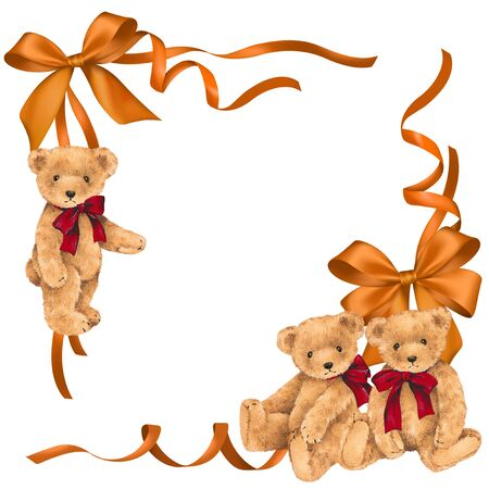 whim: Illustration of bear and ribbon